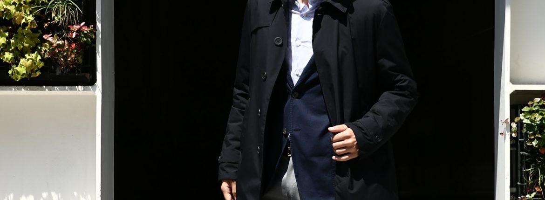 HERNO(ヘルノ) PI077UL LAMINAR Belted coat (ラミナー ベルテッドコート) GORE-TEX (ゴアテックス) 完全防水 ステンカラー シングル ベルテッドコート BLACK (ブラック・9300) 2017 秋冬のイメージ