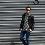 South Paradiso Leather (サウスパラディソレザー) East West イーストウエスト 【SMOKE /// スモーク】 Cow Hide Leather カウハイドレザー レザージャケット BLACK (ブラック) MADE IN USA (アメリカ製)のイメージ