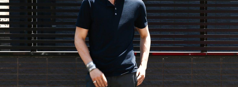 ZANONE (ザノーネ) Henry Neck T-shirt ice cotton アイスコットン 811895 Z0380 ヘンリーネックTシャツ NAVY (ネイビー・Z0542) MADE IN ITALY(イタリア製) 2017 春夏新作のイメージ