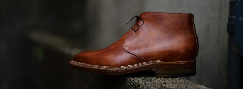 ENZO BONAFE (エンツォボナフェ) ART.3722 Chukka boots チャッカブーツ Bonaudo Museum Calf Leather ボナウド社 ミュージアムカーフレザー ノルベジェーゼ製法 レザーソール チャッカブーツ DEEP BLUE(ディープブルー) made in Italy(イタリア製) 2018 春夏のイメージ