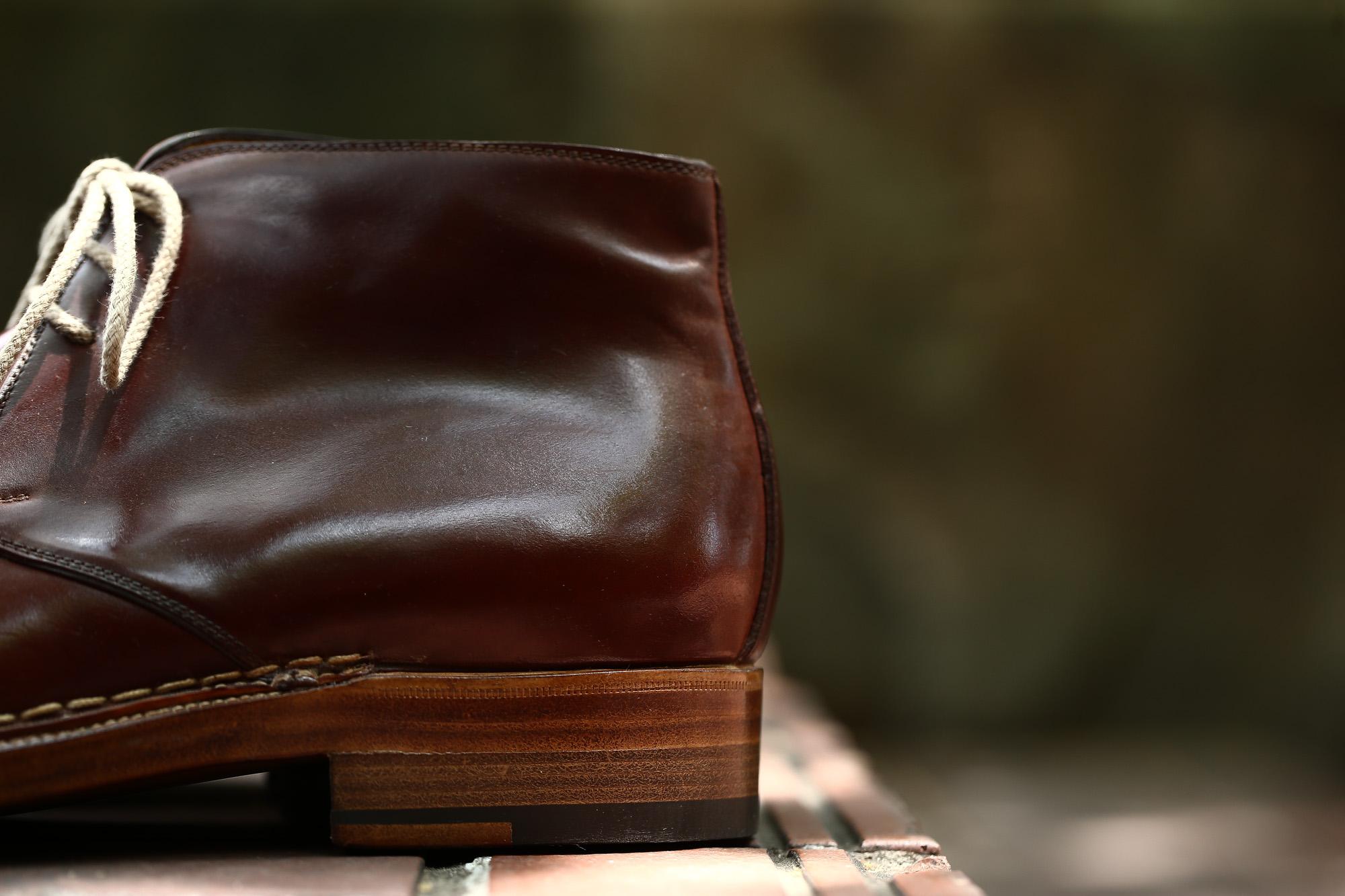 ENZO BONAFE (エンツォボナフェ) ART.3722 Chukka boots チャッカブーツ Horween Shell Cordovan Leather ホーウィン社 シェルコードバンレザー 【ノルベジェーゼ製法】 チャッカブーツ コードバンブーツ 【No.4】  made in italy (イタリア製) 2017 秋冬新作 愛知 名古屋 ZODIAC ゾディアック エンツォボナフェ コードバン チャッカ enzobonafe コードヴァン