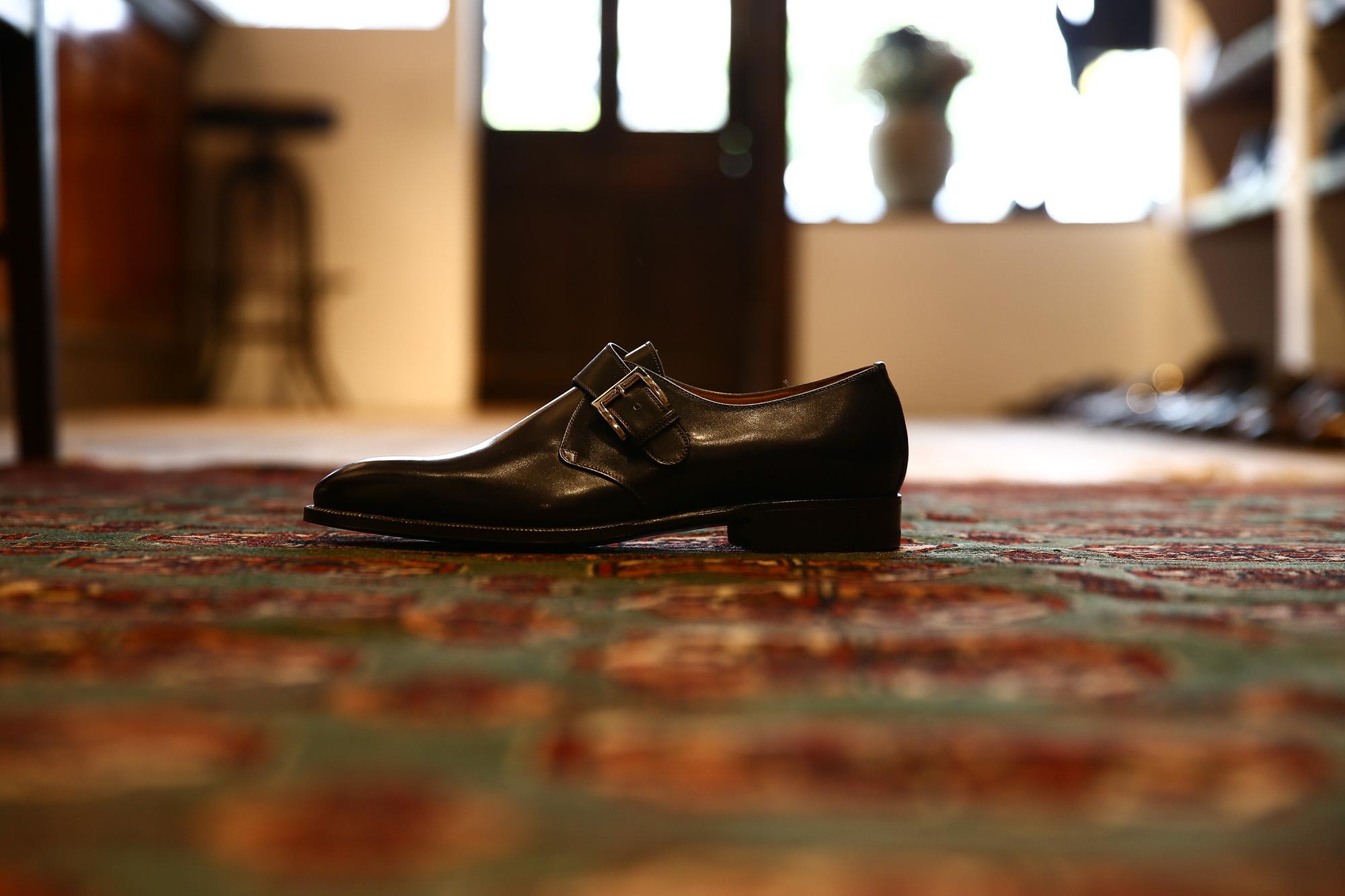 ENZO BONAFE(エンツォボナフェ) 【ART.EB-31】Single Monk Strap Shoes シングルモンクストラップシューズ ANILVEAU ドレスシューズ BLACK (ブラック) made in italy (イタリア製) 2018 春夏新作 enzobonafe エンツォボナフェ 愛知 名古屋 Alto e Diritto アルト エ デリット 2018年新作モデル 日本企画 木型 ダブルモンク コードバン
