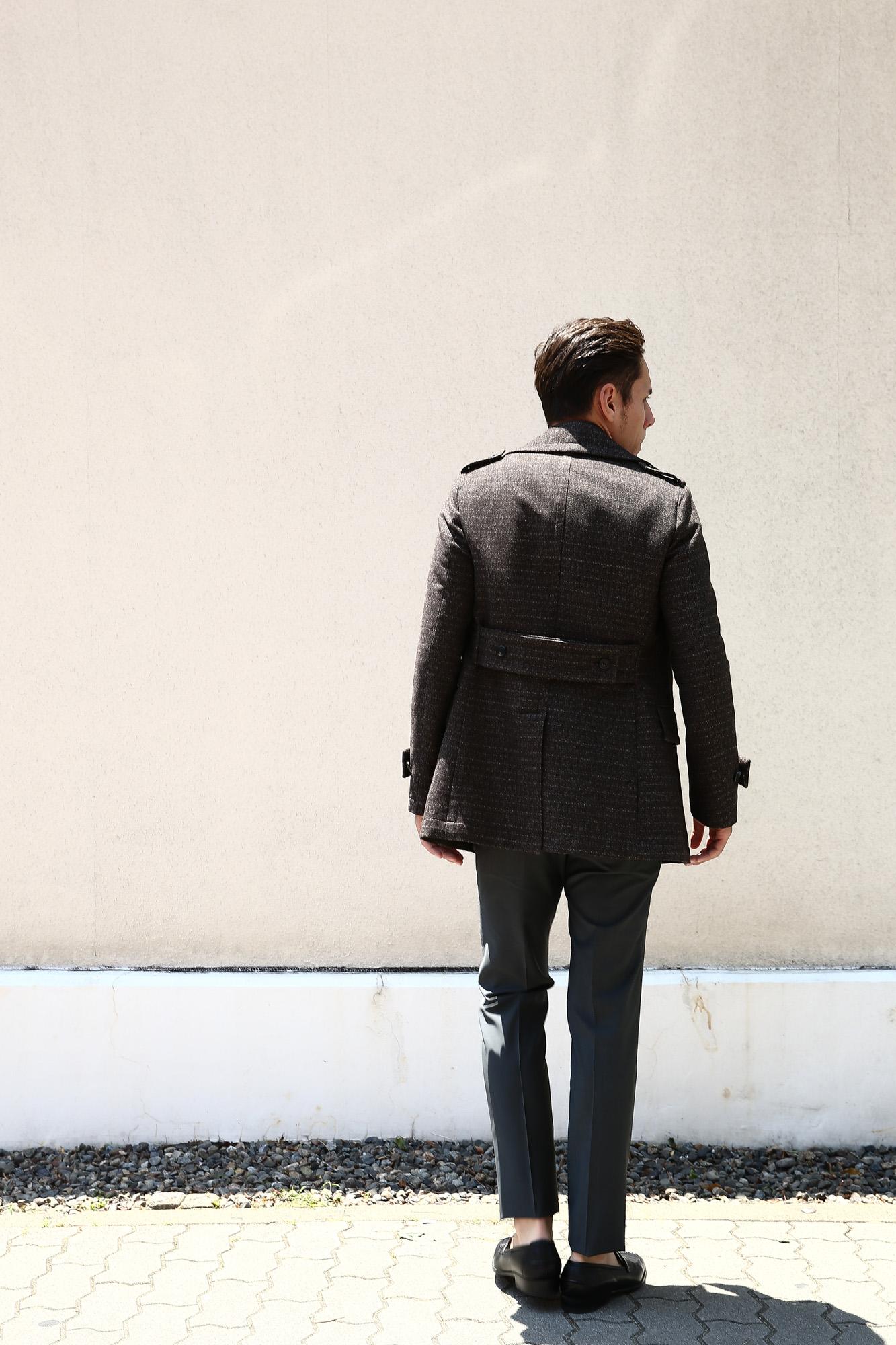 【GABRIELE PASINI / ガブリエレ パジーニ】 Pea coat ピーコート ウール オーバーコート ミドル丈 ダブルコート BROWN (ブラウン・438) Made in italy (イタリア製) 2017 秋冬 gabrielepasini ガブリエレパジーニ ジャケット スーツ コート Pコート 愛知 名古屋 Alto e Diritto アルト エ デリット