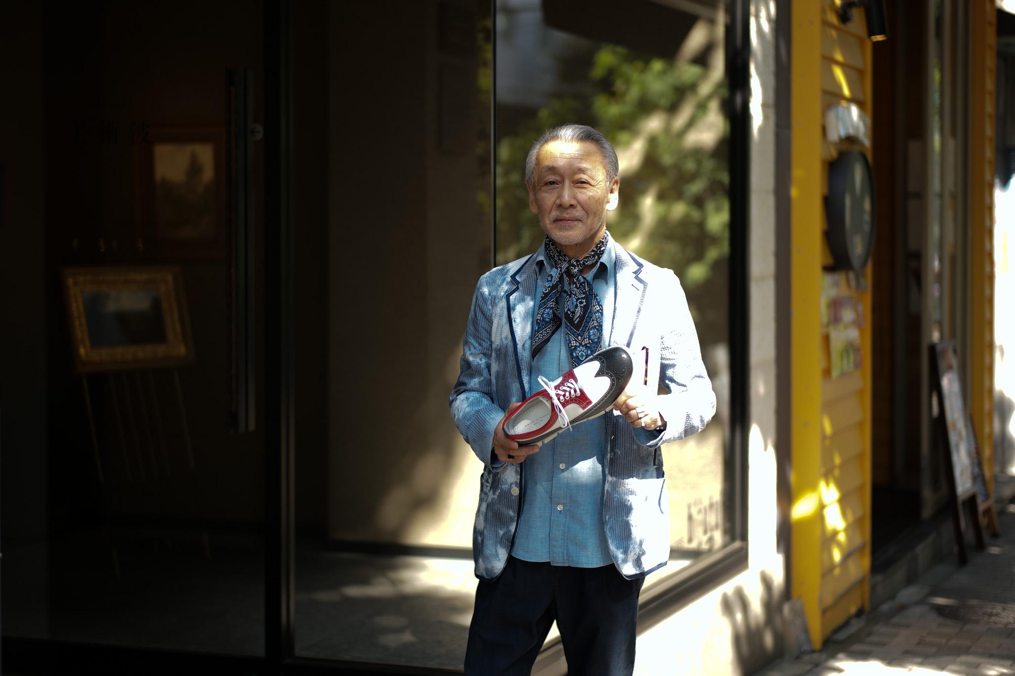 HIROSHI TSUBOUCHI(ヒロシ ツボウチ) HTO-AD05 Wing tip Sneakers Calf Leather カーフレザー ウィングチップ スニーカー TRICOLOR(トリコロール) MADE IN JAPAN(日本製) 2017秋冬 hiroshitsubouchi ヒロシツボウチ 木梨則武 ノリさん C.ロナウド クリスティアーノロナウド トリコカラー とんねるずのみなさんのおかげでした