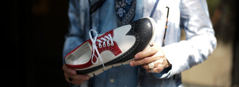 HIROSHI TSUBOUCHI(ヒロシ ツボウチ) HTO-AD05 Wing tip Sneakers Calf Leather カーフレザー ウィングチップ スニーカー TRICOLOR(トリコロール) MADE IN JAPAN(日本製) 2017秋冬のイメージ