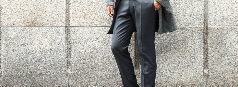 【INCOTEX / インコテックス】 N35 SLIM FIT (1NT035) スリムフィットS110'S HIGH COMFORT BATAVIA ストレッチ サージウール スラックス MEDIUM GRAY (ミディアムグレー・910) 2017 秋冬新作のイメージ