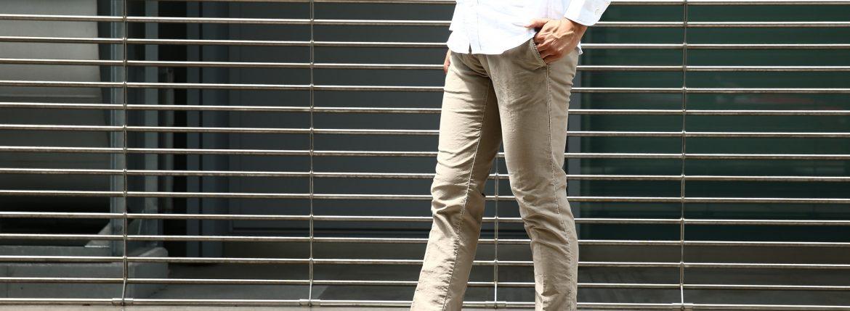 【INCOTEX SLACKS / インコテックススラックス】1ST603 SLIM FIT スリムフィット TRICOCHINO STRETCH ガーメントダイ  ストレッチ コットントラウザー チノパンツ GREGE (グレージュ・421) 2017 秋冬新作のイメージ