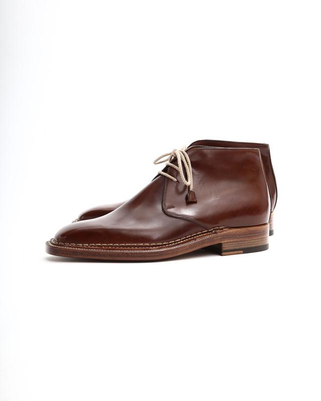 ENZO BONAFE(エンツォボナフェ) ART.3722 Chukka boots チャッカブーツ Horween Shell Cordovan Leather ホーウィン社 シェルコードバンレザー ノルベジェーゼ製法 チャッカブーツ コードバンブーツ No.4(#4)  made in italy (イタリア製) 2019 春夏新作 【Special Model】