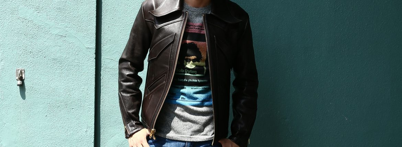 South Paradiso Leather(サウスパラディソレザー) East West イーストウエスト 【WINCHESTER // ウィンチェスター】 Cow Hide Leather カウハイドレザー レザージャケット DARK BROWN(ダークブラウン) MADE IN USA(アメリカ製)のイメージ