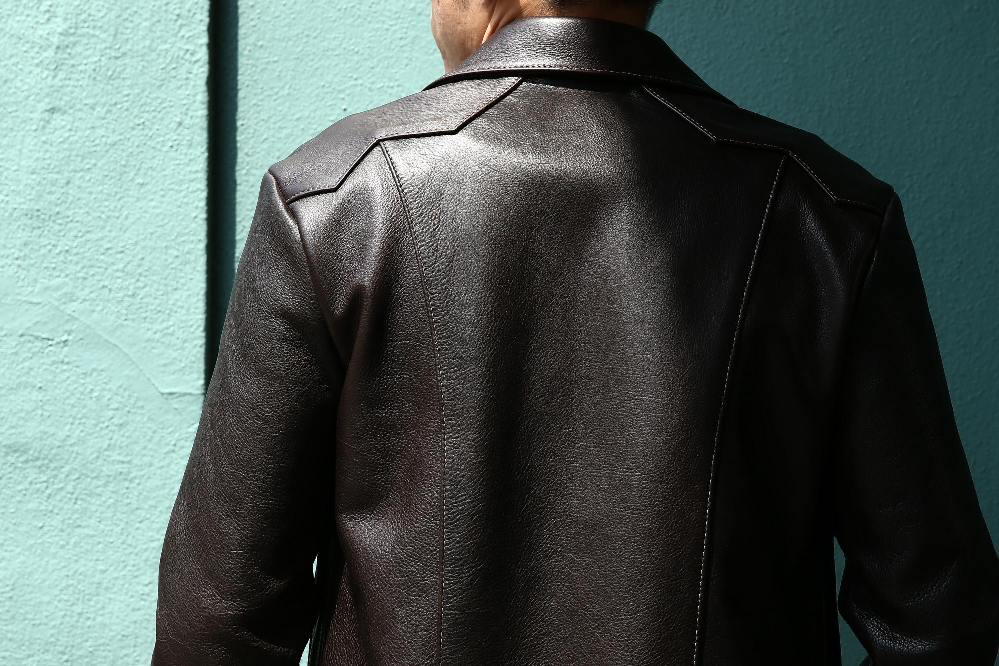 South Paradiso Leather(サウスパラディソレザー) East West イーストウエスト 【WINCHESTER // ウィンチェスター】 Cow Hide Leather カウハイドレザー レザージャケット DARK BROWN(ダークブラウン) MADE IN USA(アメリカ製) のコーディネート画像、 愛知 名古屋 Alto e Diritto アルト エ デリット サウスパラディソ パラディソ レザー ヴィンテージ ビンテージ