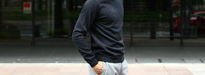 【ZANONE / ザノーネ】 Crew Neck Sweater クルーネックセーター VIRGIN WOOL 100% ヴァージンウール100% ハイゲージウールニットセーター CHARCOAL (チャコール・Z0006)  made in italy (イタリア製) 2017 秋冬新作のイメージ