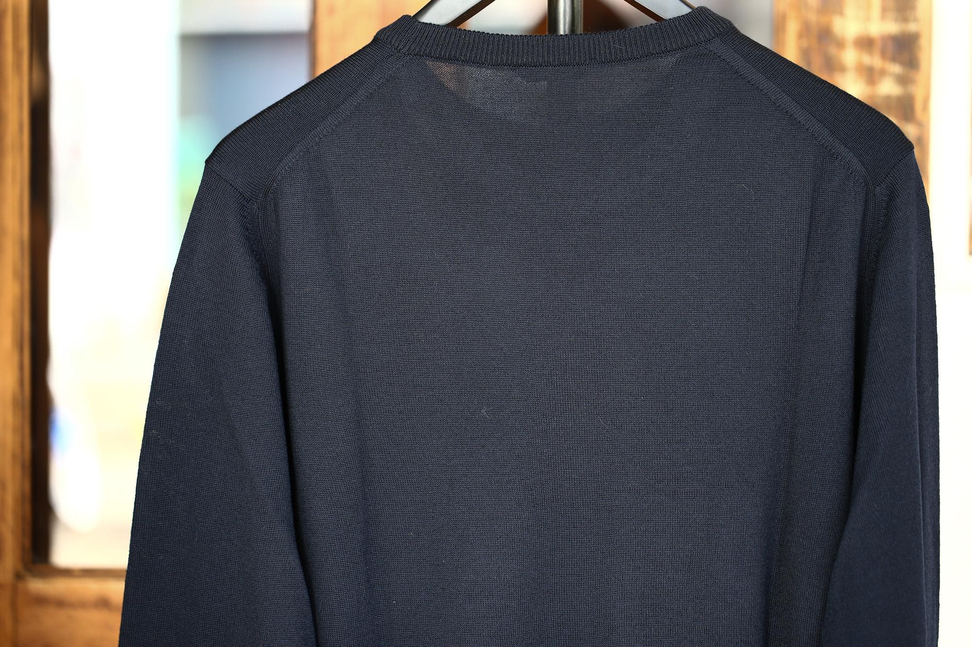 ZANONE (ザノーネ) Crew Neck Sweater (クルーネックセーター) VIRGIN WOOL 100% ヴァージンウール100% ハイゲージウールニットセーター NAVY (ネイビー・Z1375) made in italy (イタリア製) 2017 秋冬新作 zanone ザノーネ タートルネック 愛知 名古屋 Alto e Diritto アルト エ デリット タートル