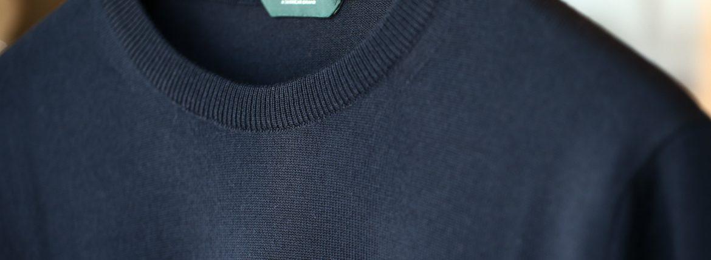 ZANONE (ザノーネ) Crew Neck Sweater クルーネックセーター VIRGIN WOOL 100% ヴァージンウール100% ハイゲージウールニットセーター NAVY (ネイビー・Z1375) made in italy (イタリア製) 2017 秋冬新作のイメージ