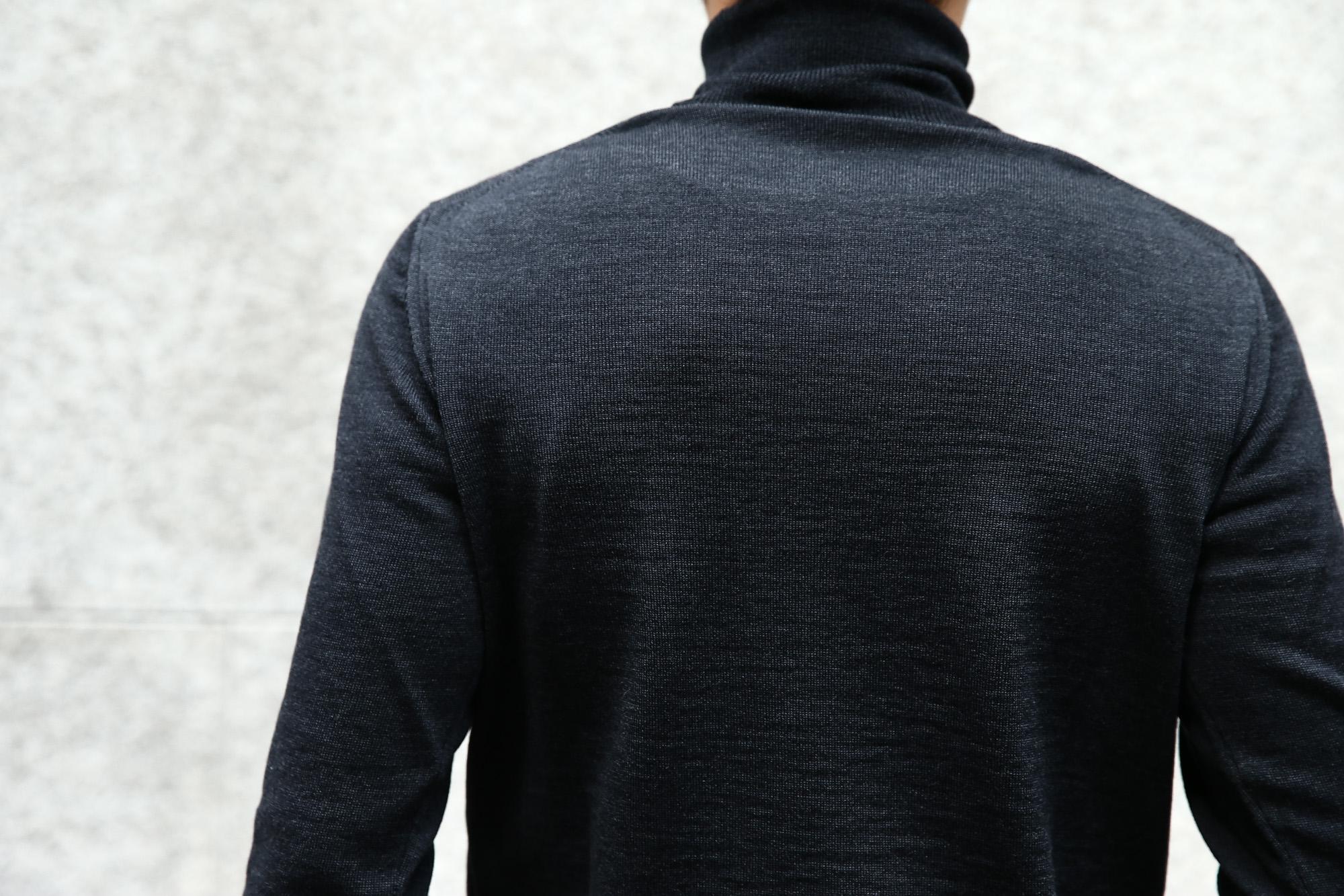 【ZANONE / ザノーネ】 Turtle Neck Sweater タートルネックセーター VIRGIN WOOL 100% ヴァージンウール100% ハイゲージウールニットセーター CHARCOAL (チャコール・Z0006) made in italy (イタリア製) 2017 秋冬新作 zanone ザノーネ タートルネック 愛知 名古屋 Alto e Diritto アルト エ デリット タートル