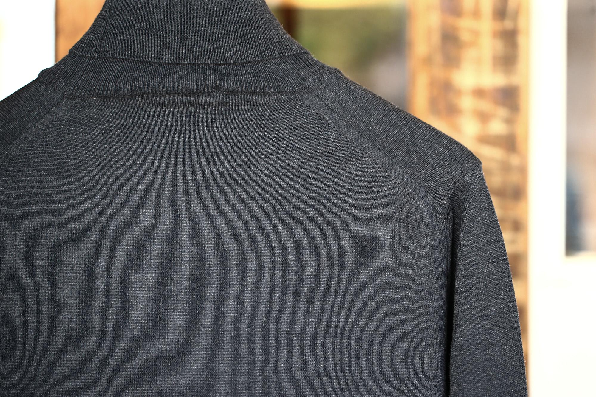 ZANONE (ザノーネ) Turtle Neck Sweater タートルネックセーター VIRGIN WOOL 100% ヴァージンウール100% ハイゲージウールニットセーター CHARCOAL (チャコール・Z0006) made in italy (イタリア製) 2017 秋冬新作 zanone ザノーネ タートルネック 愛知 名古屋 Alto e Diritto アルト エ デリット タートル