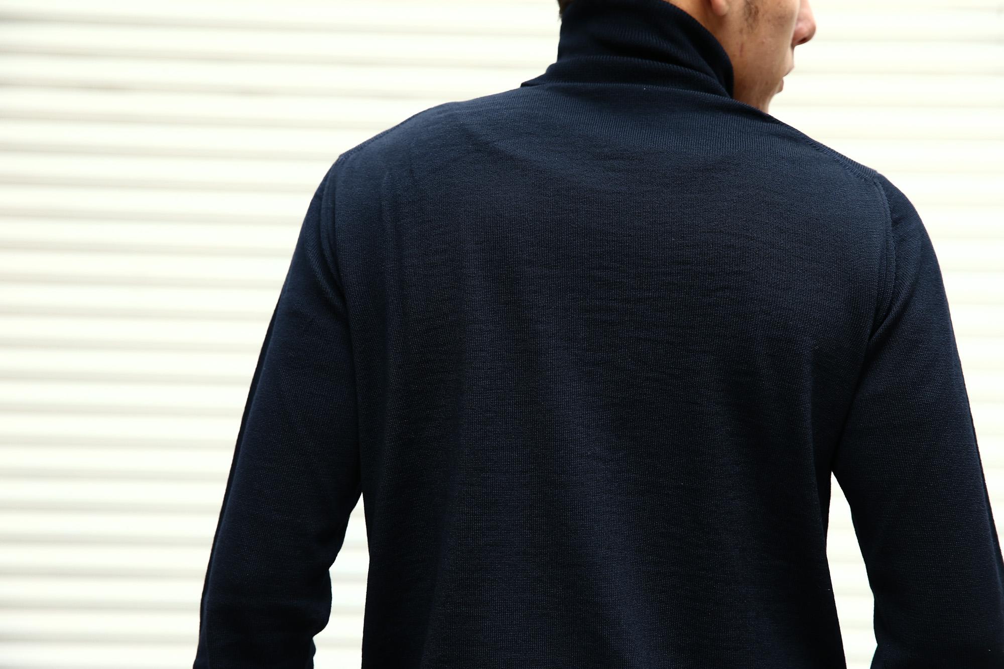 【ZANONE / ザノーネ】 Turtle Neck Sweater タートルネックセーター VIRGIN WOOL 100% ヴァージンウール100% ハイゲージウールニットセーター NAVY (ネイビー・Z1375) made in italy (イタリア製) 2017 秋冬新作 made in italy (イタリア製) 2017 秋冬新作 zanone ザノーネ タートルネック 愛知 名古屋 Alto e Diritto アルト エ デリット タートル