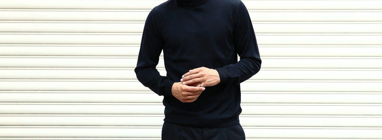 【ZANONE / ザノーネ】 Turtle Neck Sweater タートルネックセーター VIRGIN WOOL 100% ヴァージンウール100% ハイゲージウールニットセーター NAVY (ネイビー・Z1375) made in italy (イタリア製) 2017 秋冬新作のイメージ
