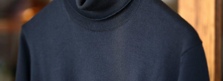 ZANONE (ザノーネ) Turtle Neck Sweater タートルネックセーター VIRGIN WOOL 100% ヴァージンウール100% ハイゲージウールニットセーター NAVY (ネイビー・Z1375) made in italy (イタリア製) 2017 秋冬新作のイメージ