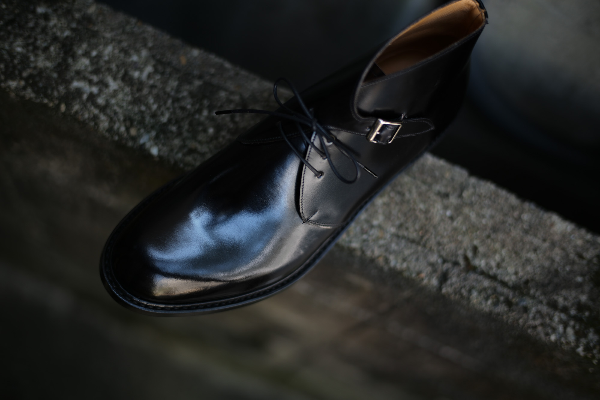 Cuervo (クエルボ)  【2017 AW NEW MODEL】Derringer (デリンジャー) 【CORDOVAN / コードバン】 Goodyear Welt Process Double Leather Sole  Chukkaboots BLACK MADE IN JAPAN 【Special Model 1st sample】 cuervoクエルボ チャッカブーツ 愛知 名古屋 Alto e Diritto アルト エ デリット 5.5,6,6.5,7,7.5,8,8.5,9,9.5