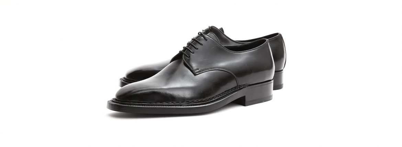 【ENZO BONAFE / エンツォボナフェ】 【3720】Plane Toe Dress Shoes プレーントゥー Horween Shell Cordovan leather ホーウィンシェル コードバンレザー コードヴァンドレスシューズ NERO(ブラック) made in italy (イタリア製) 2017 秋冬新作のイメージ