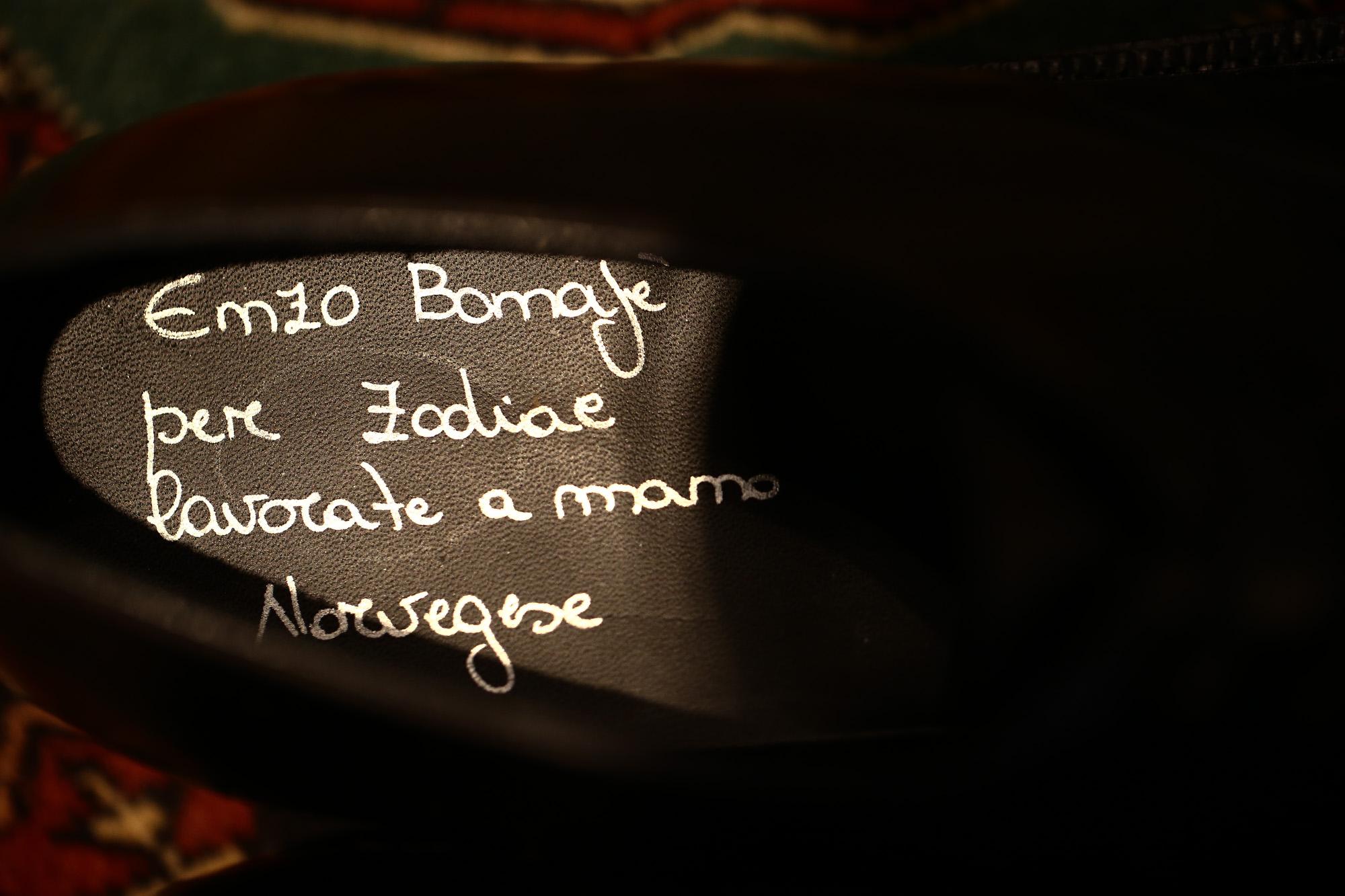 【ENZO BONAFE / エンツォボナフェ】 【3720】Plane Toe Dress Shoes プレーントゥー Horween Shell Cordovan leather ホーウィンシェル コードバンレザー ドレスシューズ NERO(ブラック) made in italy (イタリア製) 2017 秋冬新作 enzobonafe エンツォボナフェ 愛知 名古屋 ZODIAC ゾディアック 5.5,6,6.5,7,7.5,8,8.5,9,9.5