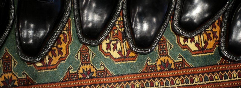 【ENZO BONAFE // エンツォボナフェ】 【3720】Plane Toe Dress Shoes プレーントゥー Horween Shell Cordovan leather ホーウィンシェル コードバンレザー ドレスシューズ NERO(ブラック) made in italy (イタリア製) 2017 秋冬新作のイメージ