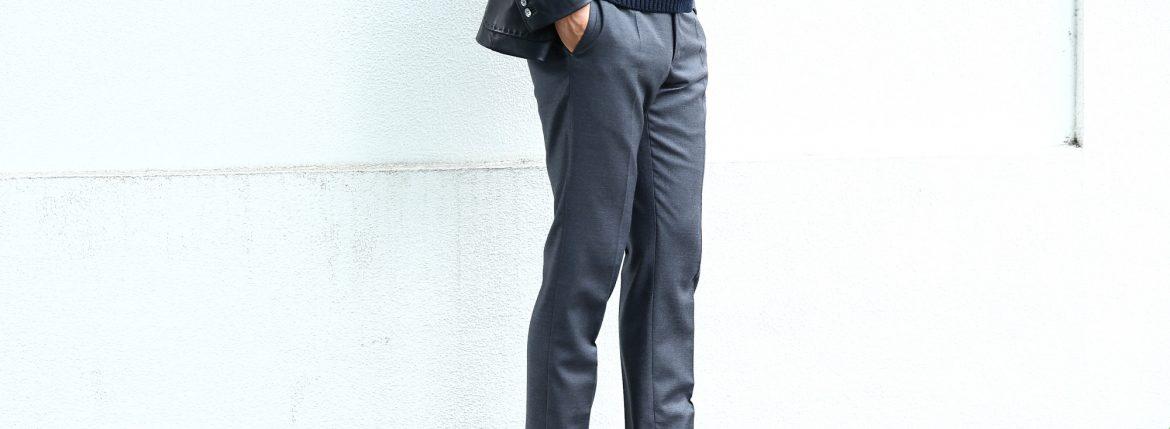 INCOTEX(インコテックス) N35 SLIM FIT (1NT035) スリムフィットS110'S HIGH COMFORT BATAVIA ストレッチ サージウール スラックス 【MEDIUM GRAY // ミディアムグレー・910】 2017 秋冬新作のイメージ