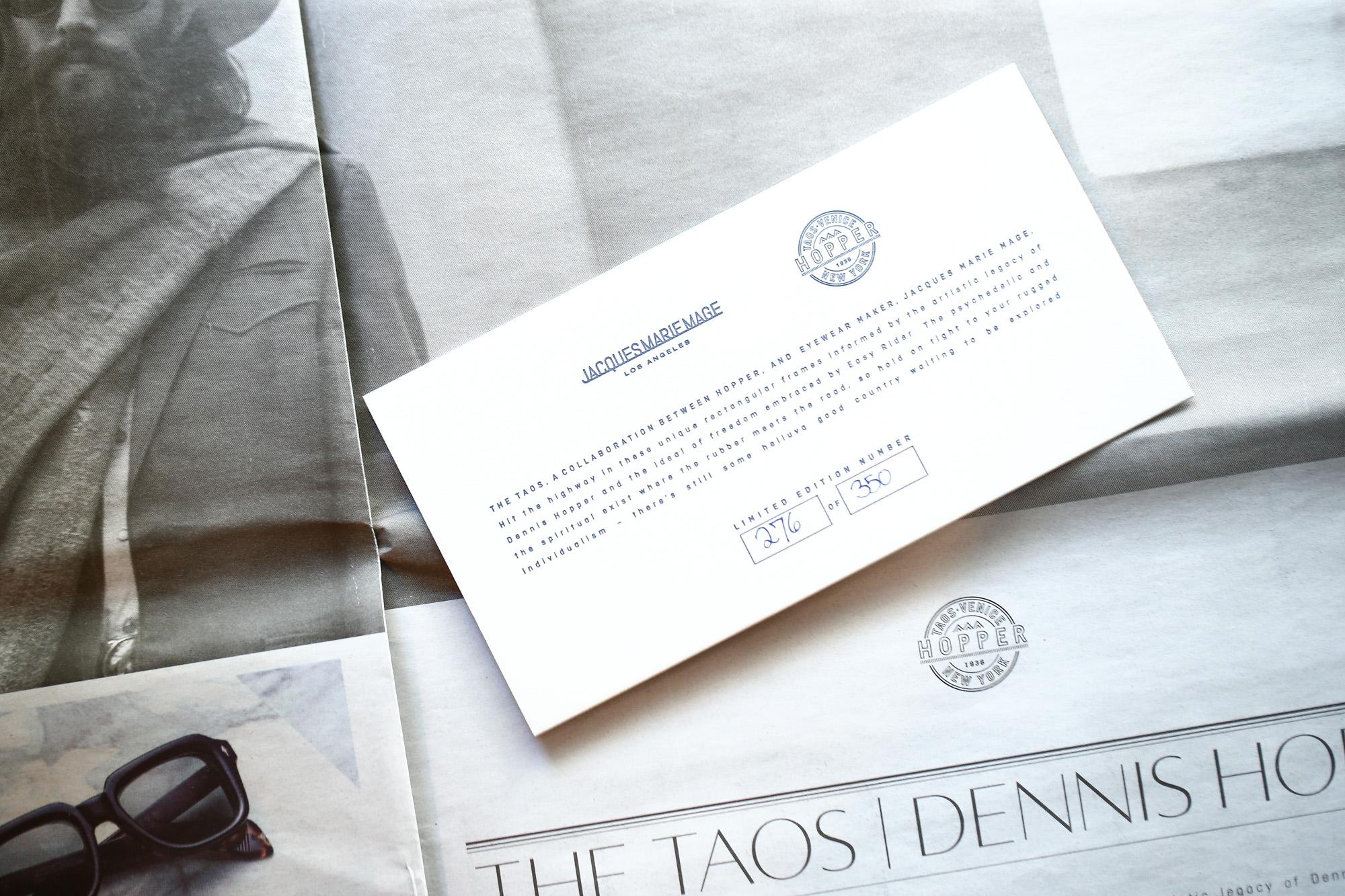 JACQUESMARIEMAGE (ジャックマリーマージュ) TAOS (タオス) Dennis Hopper (デニス・ホッパー) STERLING SILVER ウェリントン型 アイウェア サングラス NOIR (ノワール)  HANDCRAFTED IN JAPAN 2018 秋冬新作 jacquesmariemage taos dennishopper 18kgold デニスホッパー 愛知 名古屋 Alto e Diritto アルト エ デリット