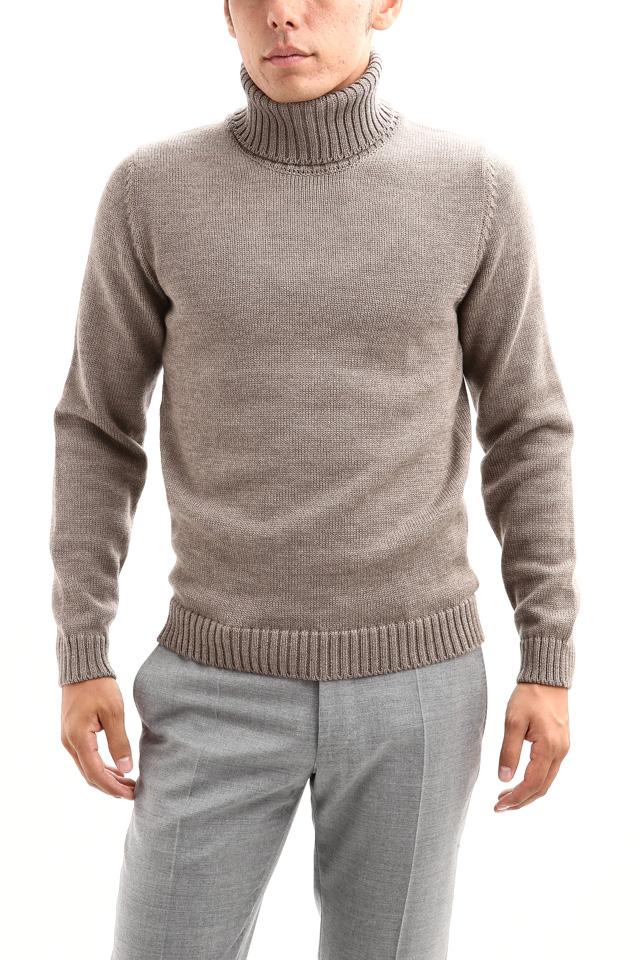 ZANONE (ザノーネ) Turtle Neck Sweater タートルネックセーター VIRGIN WOOL 100% ミドルゲージ ウールニット セーター GREGE (グレージュ・Z2873)  made in italy (イタリア製) 2017 秋冬新作
