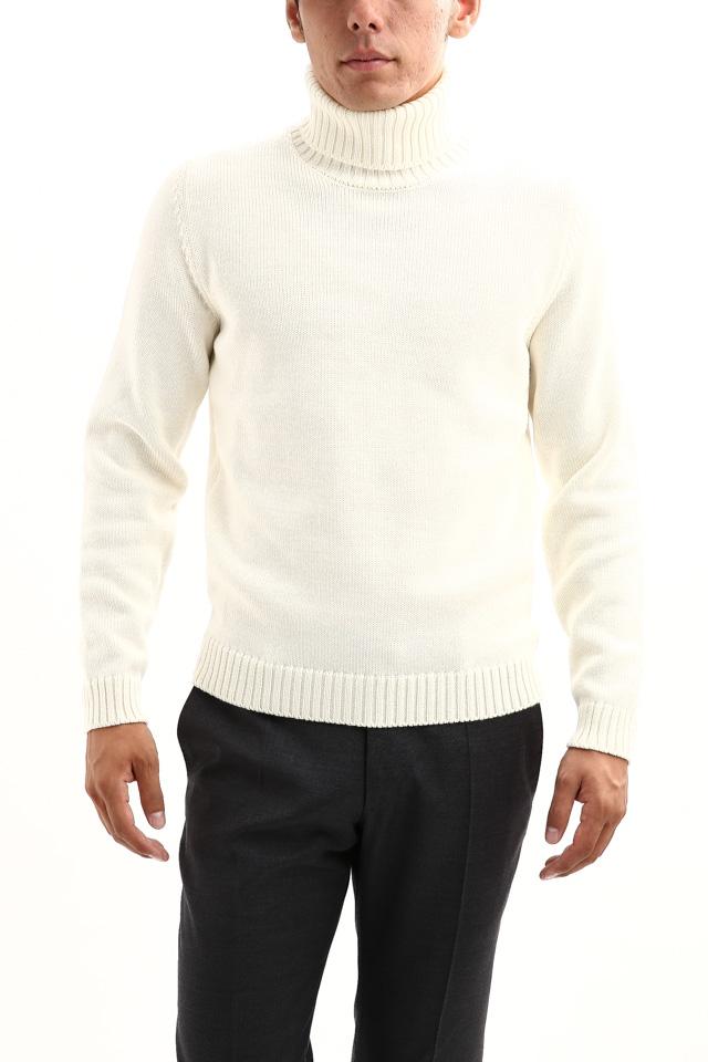 ZANONE (ザノーネ) Turtle Neck Sweater タートルネックセーター VIRGIN WOOL 100% ミドルゲージ ウールニット セーター OFF WHITE (オフホワイト・Z3623) made in italy (イタリア製) 2017 秋冬新作