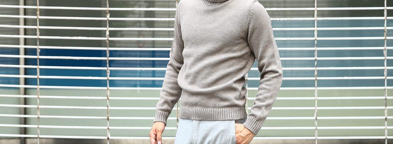 【ZANONE / ザノーネ】 Turtle Neck Sweater タートルネックセーター VIRGIN WOOL 100% ミドルゲージ ウールニット セーター GREGE (グレージュ・Z2873)  made in italy (イタリア製) 2017 秋冬新作のイメージ