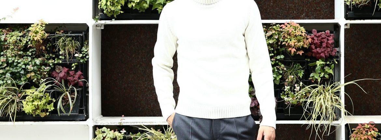 【ZANONE / ザノーネ】 Turtle Neck Sweater タートルネックセーター VIRGIN WOOL 100% ミドルゲージ ウールニット セーター OFF WHITE (オフホワイト・Z3623) made in italy (イタリア製) 2017 秋冬新作のイメージ