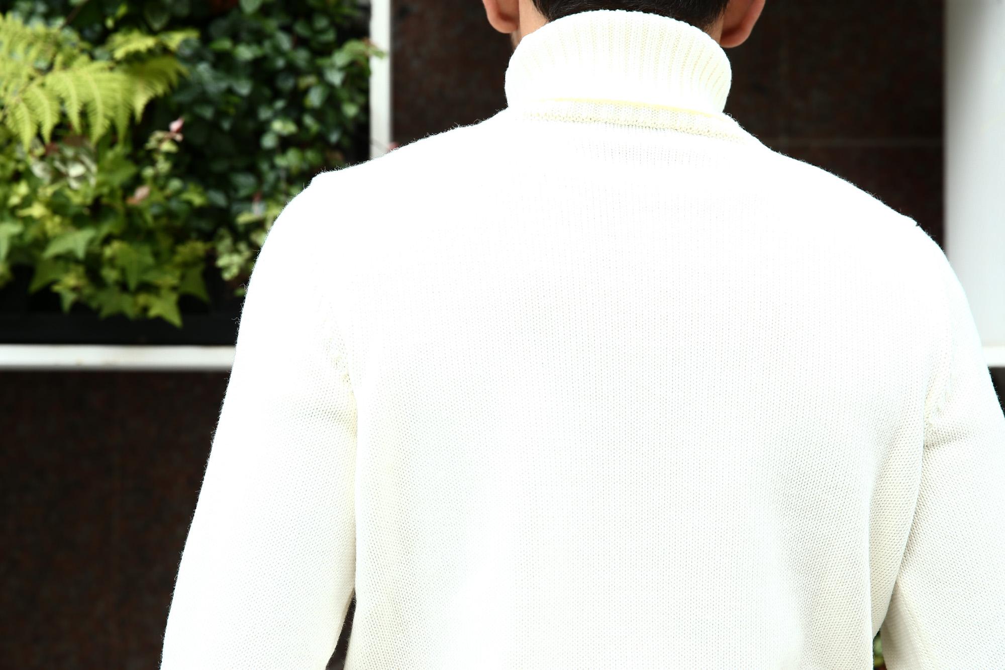 【ZANONE / ザノーネ】 Turtle Neck Sweater タートルネックセーター VIRGIN WOOL 100% ミドルゲージ ウールニット セーター OFF WHITE (オフホワイト・Z3623) made in italy (イタリア製) 2017 秋冬新作 zanone ザノーネ 愛知 名古屋 zodiac ゾディアック タートルネック