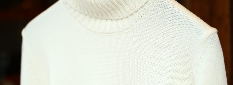ZANONE (ザノーネ) Turtle Neck Sweater タートルネックセーター VIRGIN WOOL 100% ミドルゲージ ウールニット セーター OFF WHITE (オフホワイト・Z3623) made in italy (イタリア製) 2017 秋冬新作のイメージ