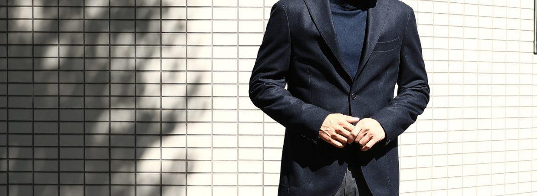 【BOGLIOLI MILANO / ボリオリ ミラノ】 K.JACKET (Kジャケット) フラノウール生地 アンコンジャケット 3Bジャケット NAVY (ネイビー・78) Made in italy (イタリア製) 2017 秋冬新作 bogliolimilano kjacket 愛知 名古屋 ZODIAC ゾディアック 42,44,46,48,50,52,54