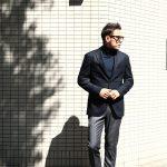 【BOGLIOLI MILANO / ボリオリ ミラノ】 K.JACKET (Kジャケット) フラノウール生地 アンコンジャケット 3Bジャケット NAVY (ネイビー・78) Made in italy (イタリア製) 2017 秋冬新作のイメージ