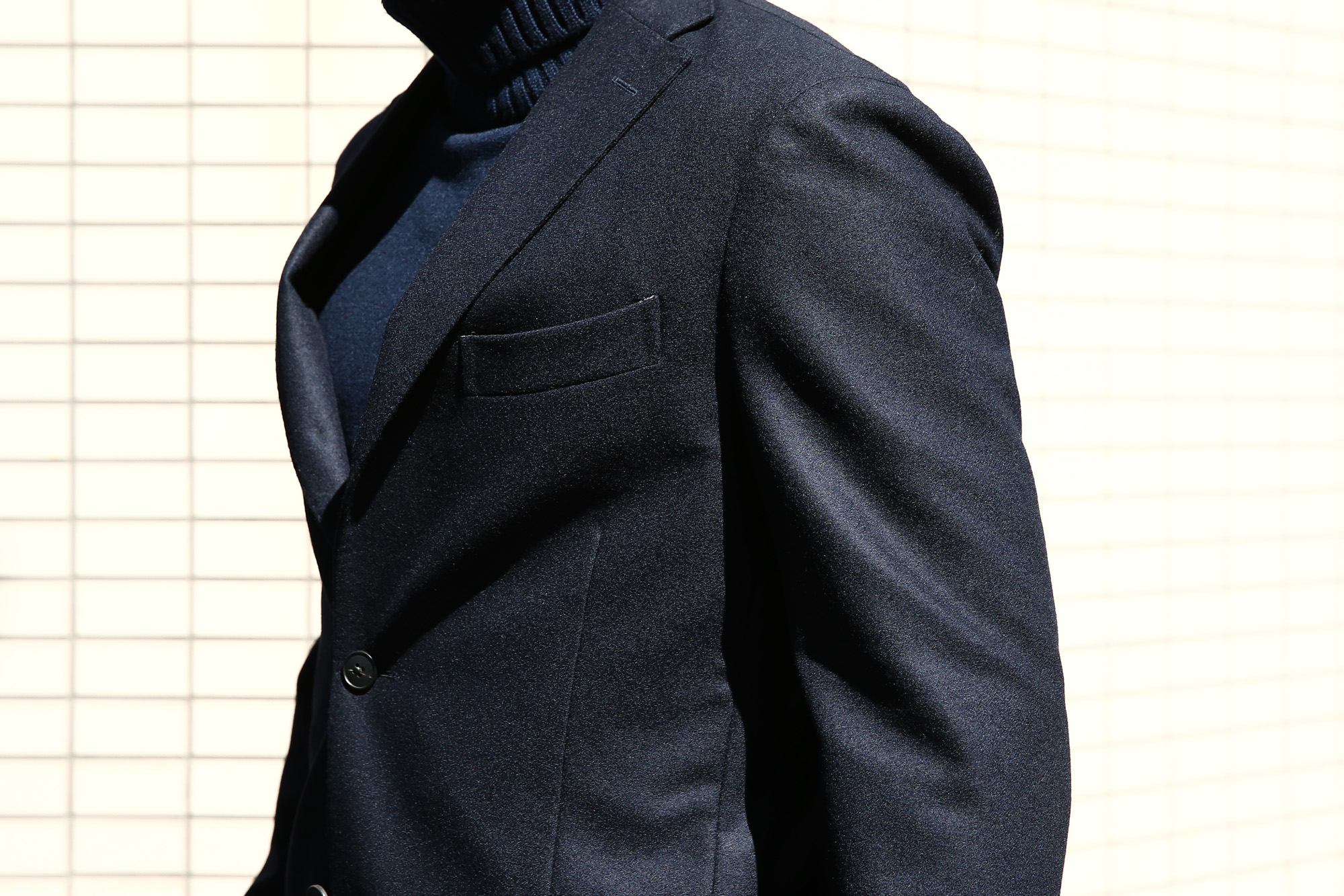 【BOGLIOLI MILANO / ボリオリ ミラノ】 K.JACKET (Kジャケット) フラノウール生地 アンコンジャケット 3Bジャケット NAVY (ネイビー・78) Made in italy (イタリア製) 2017 秋冬新作 bogliolimilano kjacket 愛知 名古屋 Alto e Diritto アルト エ デリット  42,44,46,48,50,52,54