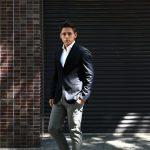 【BOGLIOLI MILANO // ボリオリ ミラノ】 K.JACKET (Kジャケット) フラノウール生地 アンコンジャケット 3Bジャケット NAVY (ネイビー・78) Made in italy (イタリア製) 2017 秋冬新作のイメージ