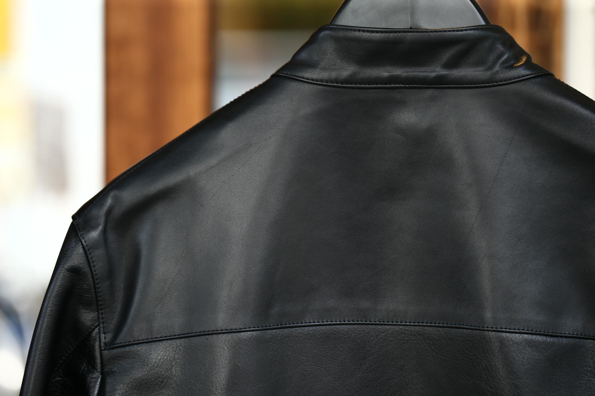 【CINQUANTA / チンクアンタ】 6621/1 STAND COLLAR RIDERS CAVALLO (スタンド カラー ジャケット) HORSE LEATHER ホースレザー シングル ライダース ジャケット BLACK (ブラック・999) Made in italy (イタリア製) 2017 秋冬新作 cinquanta チンクアンタ レザージャケット 愛知 名古屋 ZODIAC ゾディアック