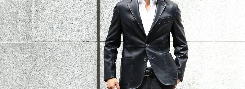 【CINQUANTA / チンクアンタ】 H613 SINGLE TAILORED JACKET CAVALLO (シングル テーラード ジャケット) ジャケット NAVY (ネイビー) Made in italy (イタリア製) 2018 春夏のイメージ