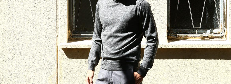 【Cruciani / クルチアーニ】 Turtle Neck Sweater (タートルネックセーター) WOOL 100% 27ゲージ&9ゲージ ハイゲージウールニット セーター GRAY (グレー・1095) made in italy (イタリア製) 2017 秋冬新作のイメージ