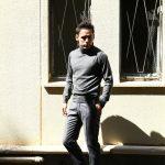 【Cruciani / クルチアーニ】 Turtle Neck Sweater (タートルネックセーター) WOOL 100% 27ゲージ&9ゲージ ハイゲージウールニット セーター GRAY (グレー・1095) made in italy (イタリア製) 2017 秋冬新作