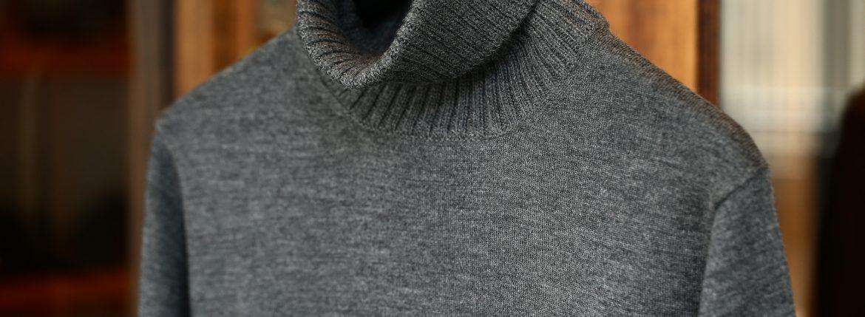Cruciani (クルチアーニ) Turtle Neck Sweater (タートルネックセーター) WOOL 100% 27ゲージ&9ゲージ ハイゲージウールニット セーター GRAY (グレー・1095) made in italy (イタリア製) 2017 秋冬新作のイメージ