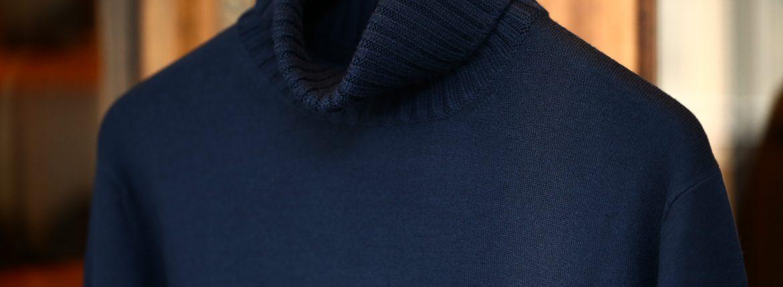Cruciani (クルチアーニ) Turtle Neck Sweater (タートルネックセーター) WOOL 100% 27ゲージ&9ゲージ ハイゲージウールニット セーター NAVY (ネイビー・8800) made in italy (イタリア製) 2017 秋冬新作のイメージ