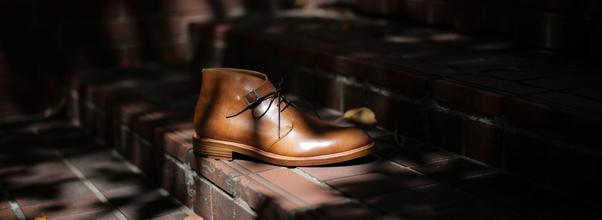 Cuervo (クエルボ)  【2018 SS NEW MODEL】Derringer (デリンジャー) 【Japan Museum Calf Leather//ジャパン ミュージアムカーフレザー】 Goodyear Welt Process Double Leather Sole  Chukkaboots NEW GOLD(ニューゴールド) MADE IN JAPAN 【Special Model 1st sample】のイメージ