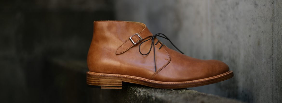 Cuervo (クエルボ)  【2018 SS NEW MODEL】Derringer (デリンジャー) 【Japan Museum Calf Leather/ジャパン ミュージアムカーフレザー】 Goodyear Welt Process Double Leather Sole  Chukkaboots NEW GOLD(ニューゴールド) MADE IN JAPAN 【Special Model 1st sample】のイメージ