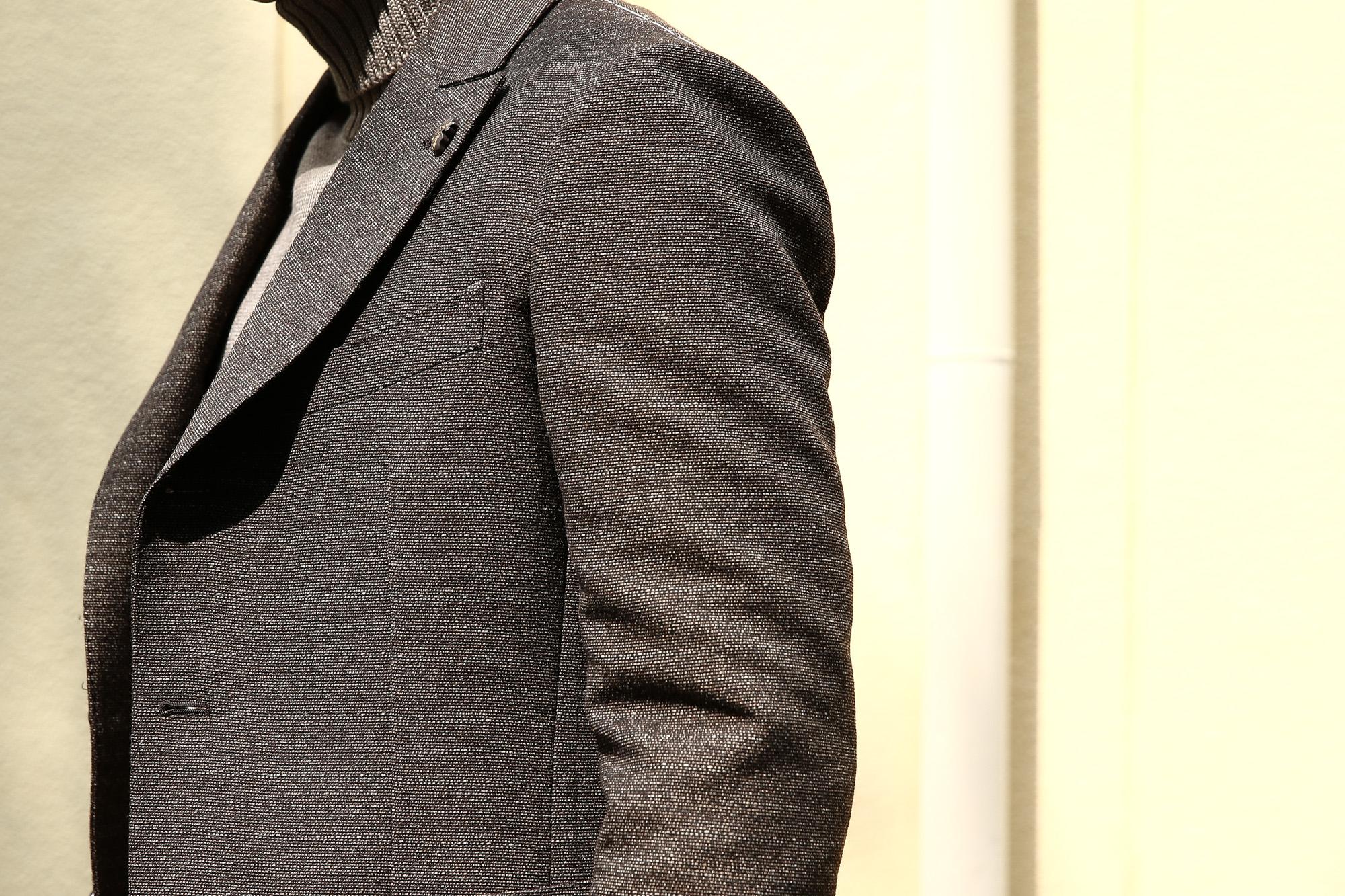 【GABRIELE PASINI /// ガブリエレ パジーニ】 JETSET ジェットセット 3ボタン段返り メランジ ウール ツイード ジャケット BROWN (ブラウン・438) 2017 秋冬新作 gabrielepasini カブリエレパジーニ 愛知 名古屋 Alto e Diritto アルト エ デリット 42,44,46,48,50,52,54