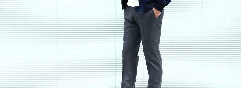 【INCOTEX // インコテックス】 N35 SLIM FIT (1NT035) スリムフィットS110'S HIGH COMFORT BATAVIA ストレッチ サージウール スラックス 【MEDIUM GRAY // ミディアムグレー・910】 2017 秋冬新作のイメージ