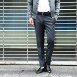 【INCOTEX / インコテックス】 N35 SLIM FIT (1NT035) スリムフィットS110'S HIGH COMFORT BATAVIA ストレッチ サージウール スラックス 【MEDIUM GRAY // ミディアムグレー・910】 2017 秋冬新作のイメージ