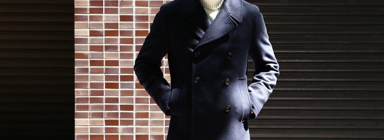 Sealup(シーラップ) 【GENOVA /// ジェノバ】 50002 7591 01 メルトンウール サーモアライニング ロングPコート Pコート ロング ピーコート NAVY (ネイビー・01) MADE IN ITALY(イタリア製) 2017 秋冬新作のイメージ
